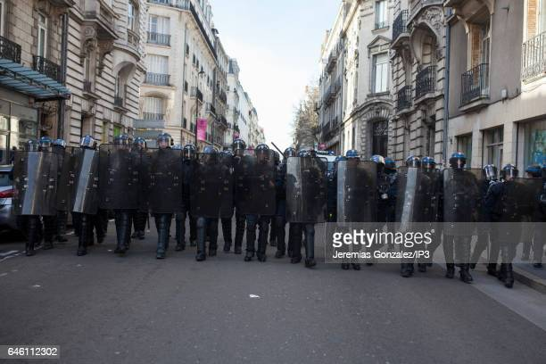 The day before a planned meeting by French far right National Front political party's leader Member of the European Parliament and candidate for the...