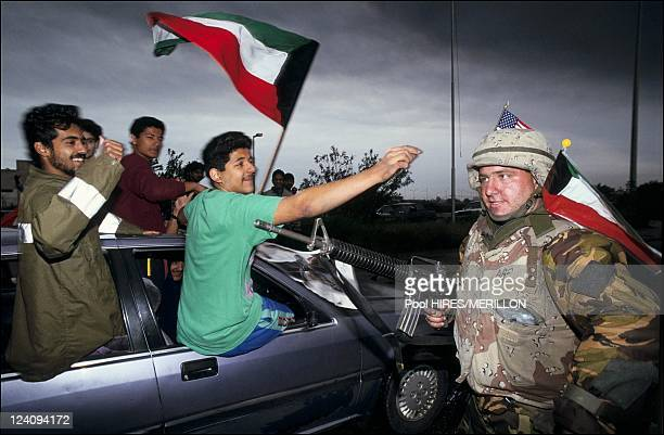 The day Kuwait city was liberated after 42 days of war in Kuwait on February 27 1991