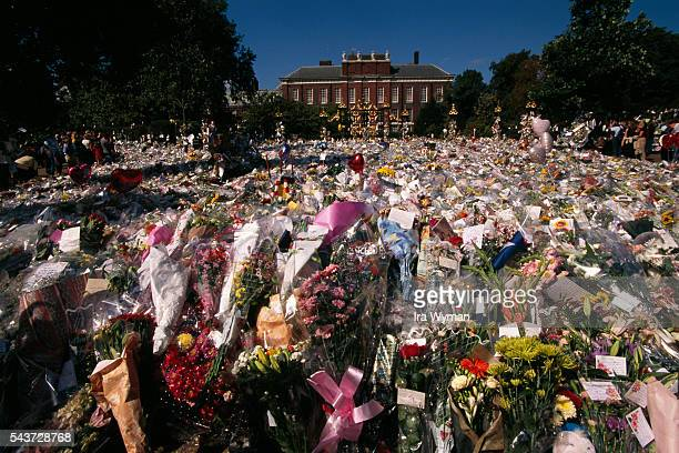 The day of the funeral of Lady Diana Spencer Princess of Wales more than 1 million bouquets of flowers were laid in front of her London home...
