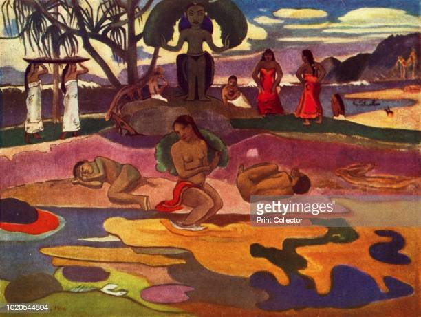The Day of the God ' located at the The Art Institute of Chicago, IL, USA. 1936. From Paul Gauguin's Intimate Journals. [Crown Publishers, New York,...