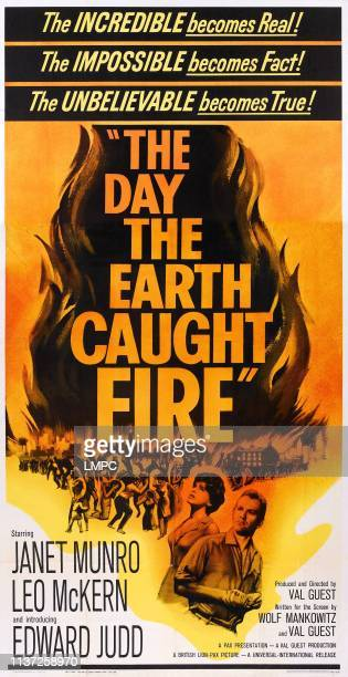 The Day The Earth Caught Fire poster poster art Janet Munro Edward Judd 1961
