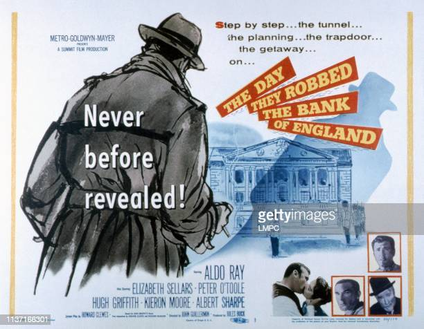 The Day They Robbed The Bank Of England lobbycard Aldo Ray Elizabeth Sellars Albert Sharpe Kieron Moore 1960