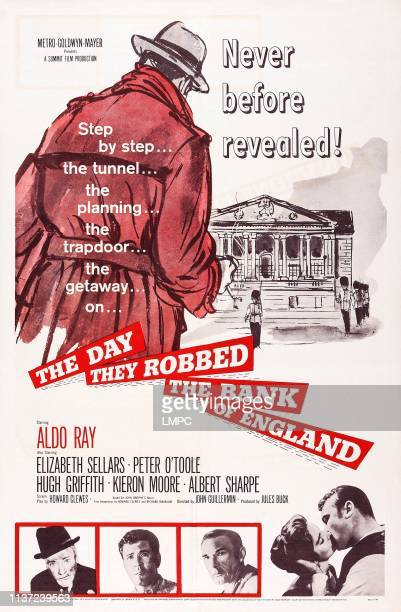 The Day They Robbed The Bank Of England poster US poster art Albert Sharpe Kieron Moore Elizabeth Sellars Aldo Ray 1960