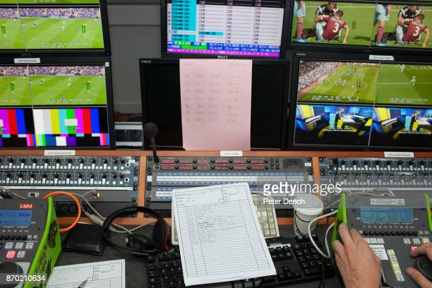 The days premiership football match schedule in an editing suite at the BBC. Match of the Day is the BBC's main football television programme....