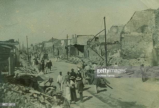 The dazed residents of Harbour Street Kingston Jamaica one of the many streets destroyed by the 1907 eathquake