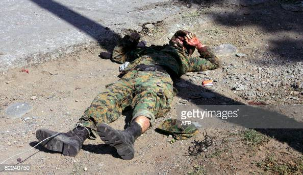 The Dead Body Of Georgian Soldier Lays O Pictures Getty