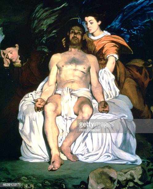'The Dead Christ and the Angels' 1864 Located in the collection at The Metropolitan Museum of Art New York USA In an inscription on the rock Manet...