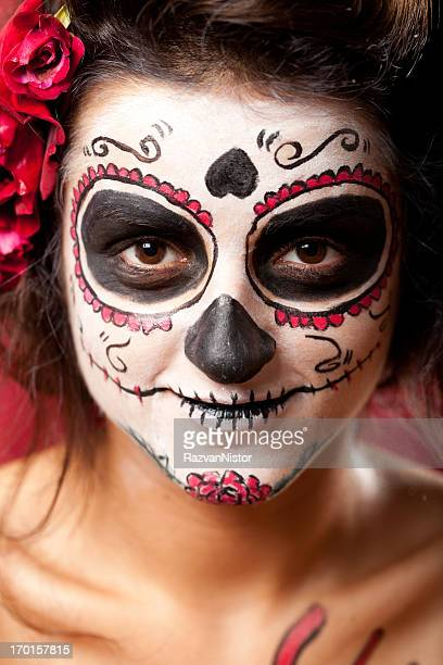 los muertos girl - ugly witches stock photos and pictures