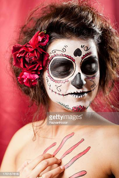 los muertos girl - ugly black women stock photos and pictures