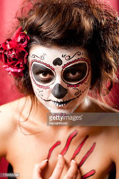 los muertos girl - ugly girl stock photos and pictures