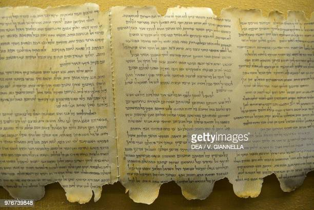 The Dead Sea scrolls found in Qumran Israel