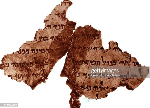 The Dead Sea Scrolls were discovered in a series of twelve caves around the site known as Wadi Qumran near the Dead Sea in the West Bank between 1946...
