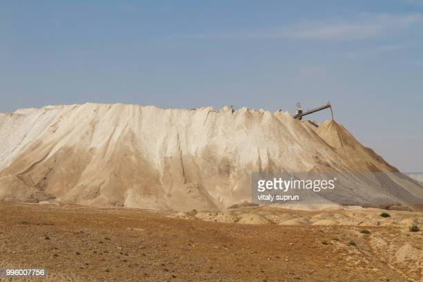 the dead sea works is an israeli potash plant in desert . - potash stock pictures, royalty-free photos & images