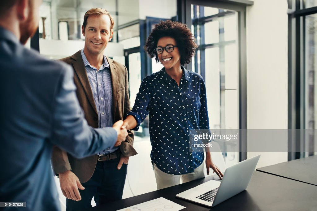 The deal makers : Stock Photo