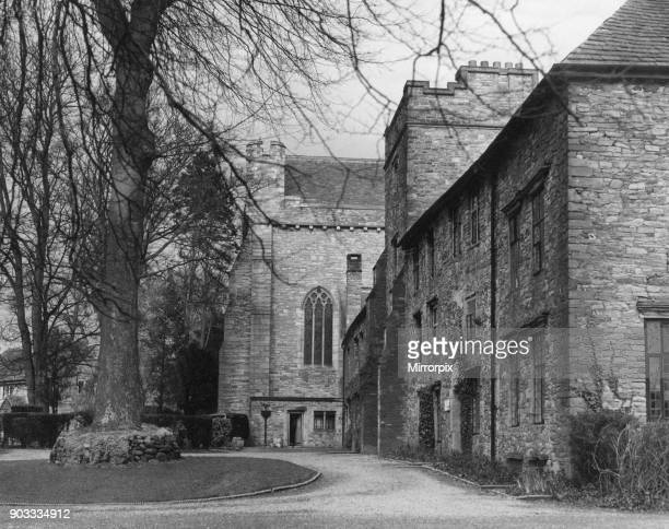 The Deanery and Priests House at Brecon Cathedral in Brecon a market town and community in Powys Mid Wales 24th February 1954