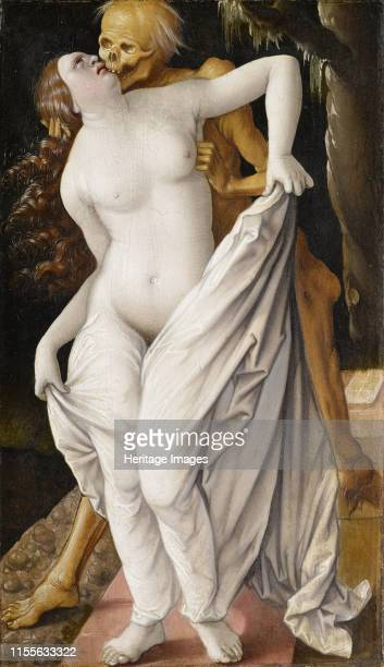 The death and the wife, circa 1521-1525. Found in the Collection of Art Museum Basel. Artist Baldung , Hans .
