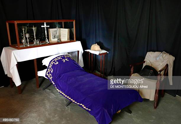 the death chamber of Napoleon Bonaparte in longwood on october 09 2015 in SaintHelena Island