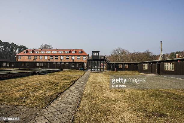 The Death Gate camp entrance is seen in former Nazi German Concentration Camp Stutthof on 17 March 2012 in Sztutowo Poland Stutthof was the first...