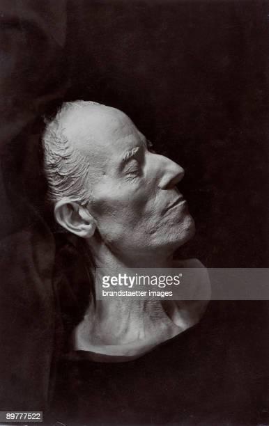 The death mask of the Austrian composer Gustav Mahler Photograph Around 1920