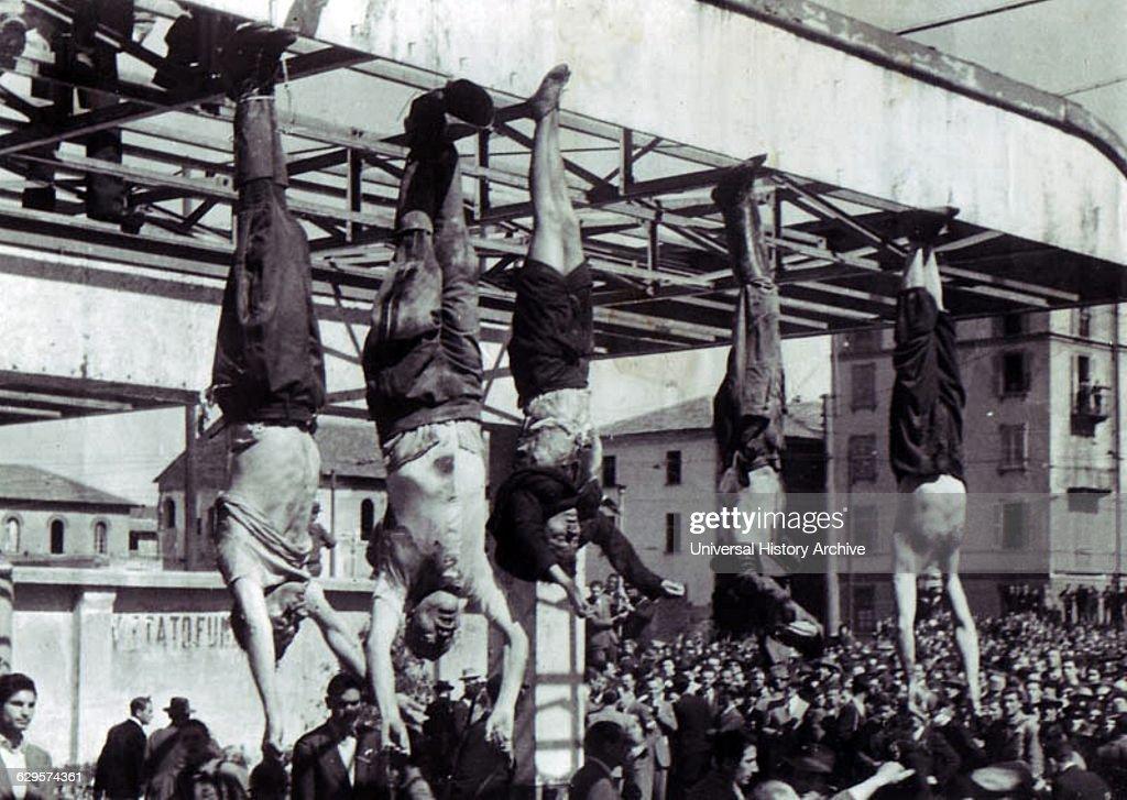 The death of Benito Mussolini, the Italian fascist dictator; April 1945 : News Photo