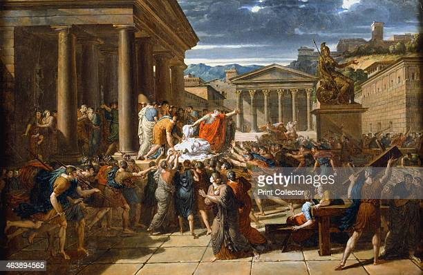 'The Death of Caesar' 44 BC The body of the murdered Julius Caesar's displayed to the crowd outside the Senate in Rome