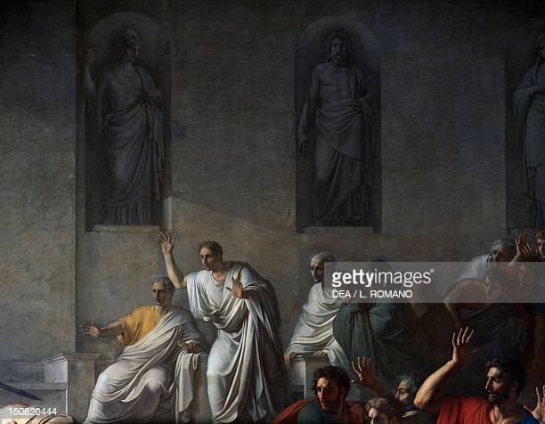 The death of Caesar March 15 44 BC by Vincenzo Camuccini oil on canvas 400x707 cm Detail Republican Italy 1st century BC