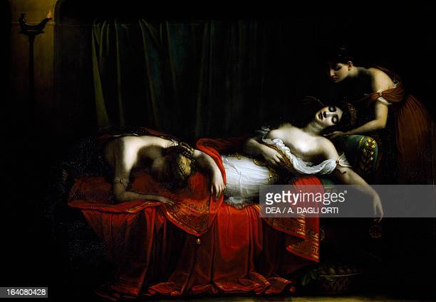 The death of Cleopatra by Charles Boulanger de Boisfremont oil on canvas 210x315 cm Rouen Musée Des BeauxArts