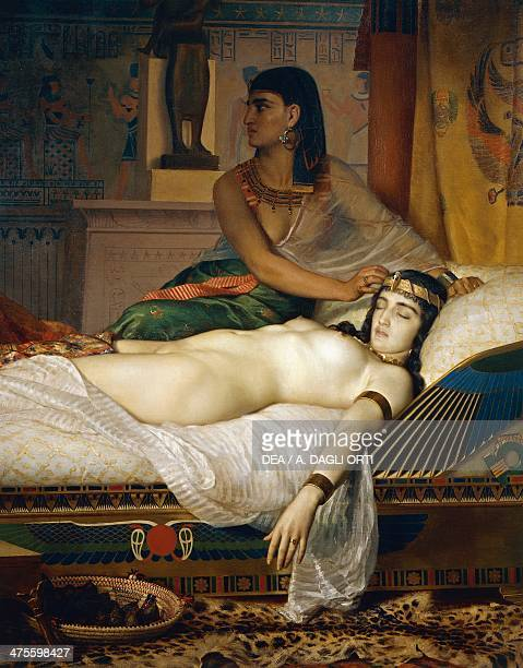 The Death of Cleopatra by Jean Andre Rixens oil on canvas 200x290 cm Detail 19th century Toulouse Musée Des Augustins