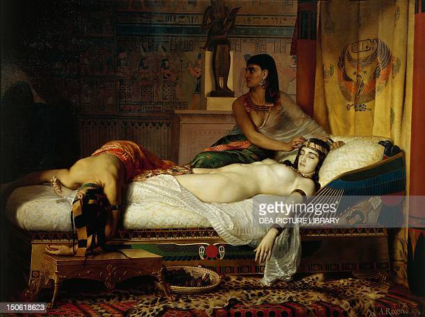 The death of Cleopatra by Jean Andre Rixens oil on canvas End of the Ptolemaic Kingdom Egypt 1st century BC