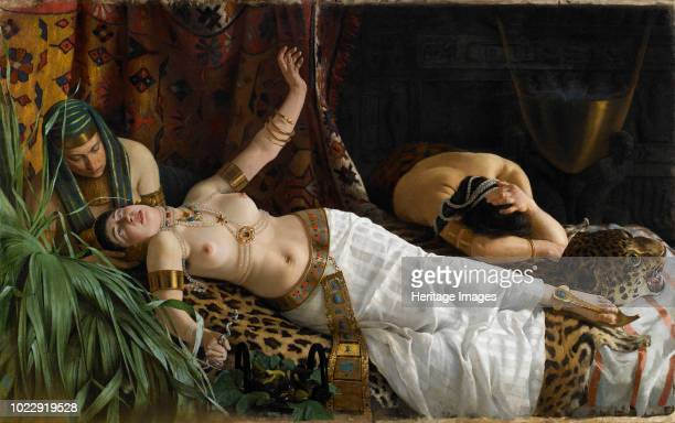 The Death of Cleopatra circa 1878 Private Collection