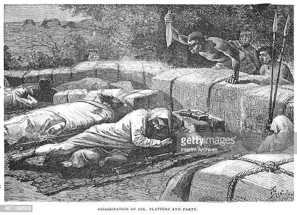 The death of Colonel Flatters and his men at the hands of the Tuaregs, February 16, 1881. Flatters' expedition was tasked with surveying a route over...