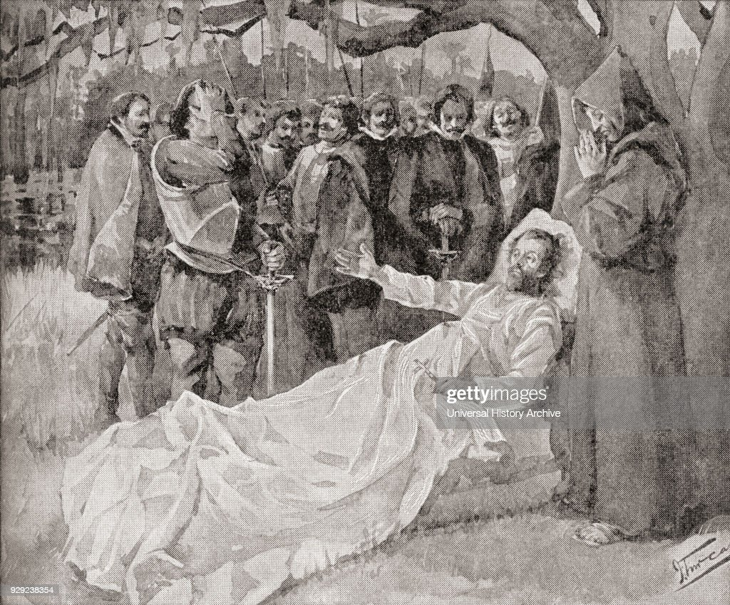 The death of De Soto in 1542 : News Photo
