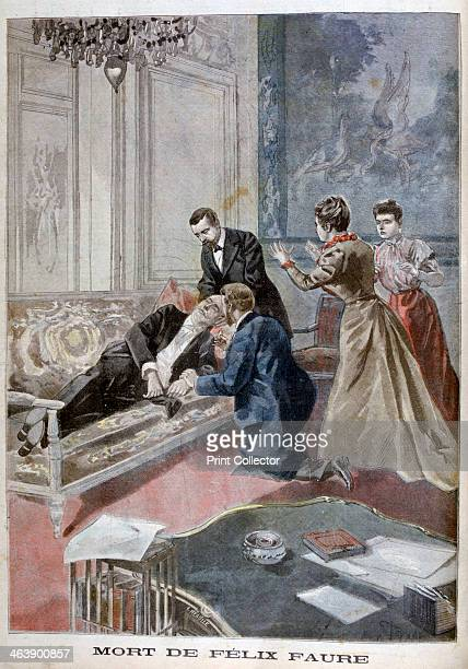 The Death of Felix Faure 1899 Faure died suddenly of a cerebral haemmorhage in his office in the Elysee Palace An illustration from Le Petit Journal...