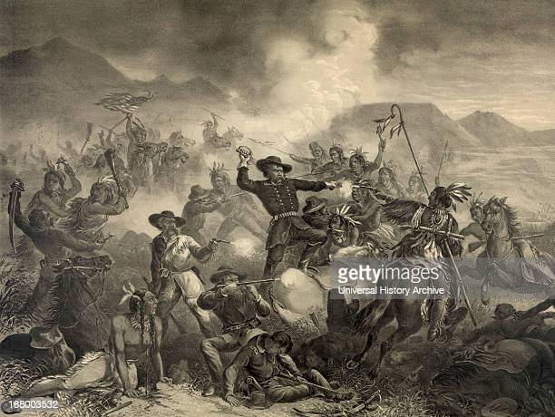 The Death Of General Custer At The Battle Of The Little Big Horn Custer's Last Stand After A Work By Henry Steinegger