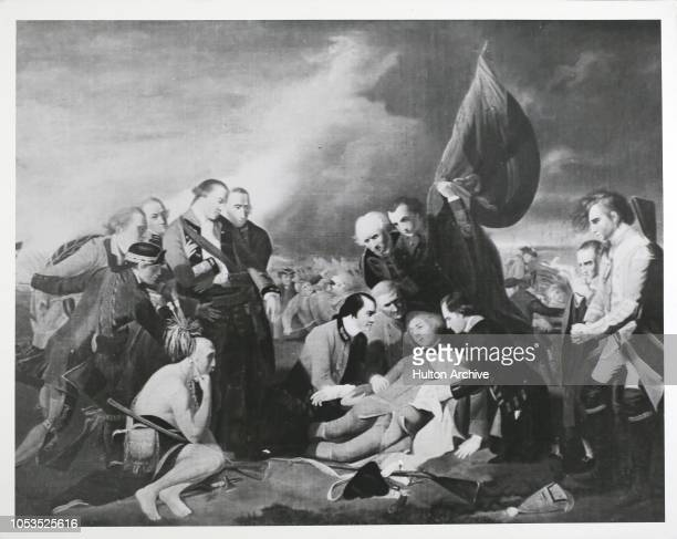 The death of General James Wolfe at the Battle of Quebec in Canada during the Seven Years' War 13th September 1759 The general mortally wounded by a...