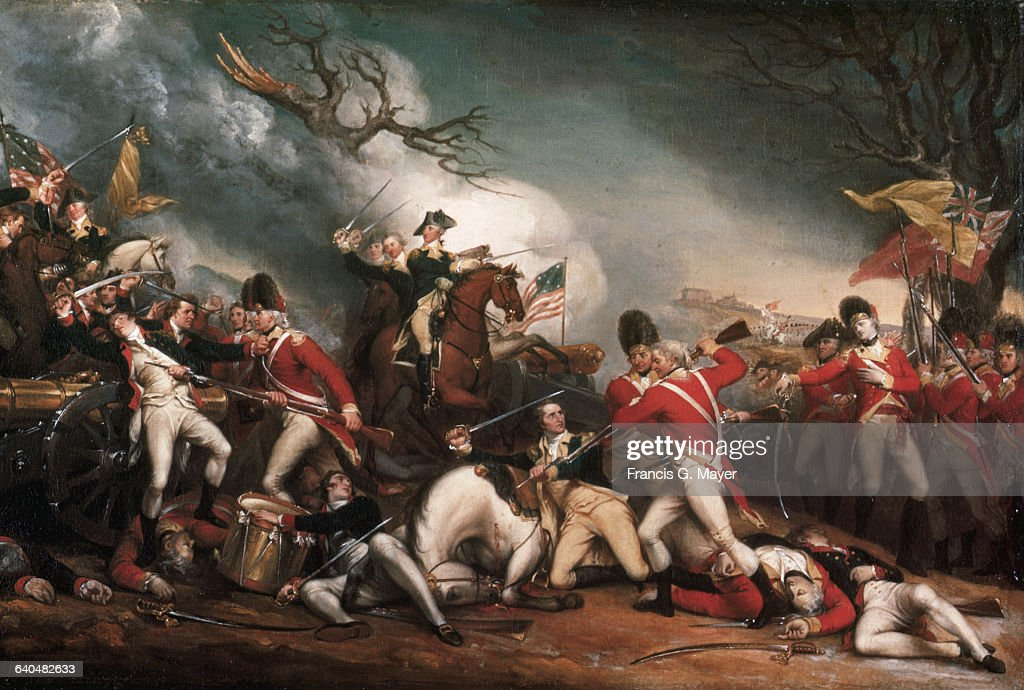 The Death of General Mercer at the Battle of Princeton, January 3, 1777 by John Trumbull : News Photo