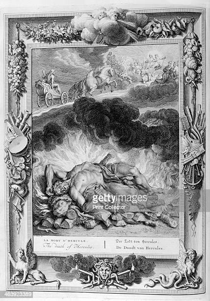 The death of Hercules, 1733. A plate from Le temple des Muses, Amsterdam, 1733. Found in the collection of Jean Claude Carriere.