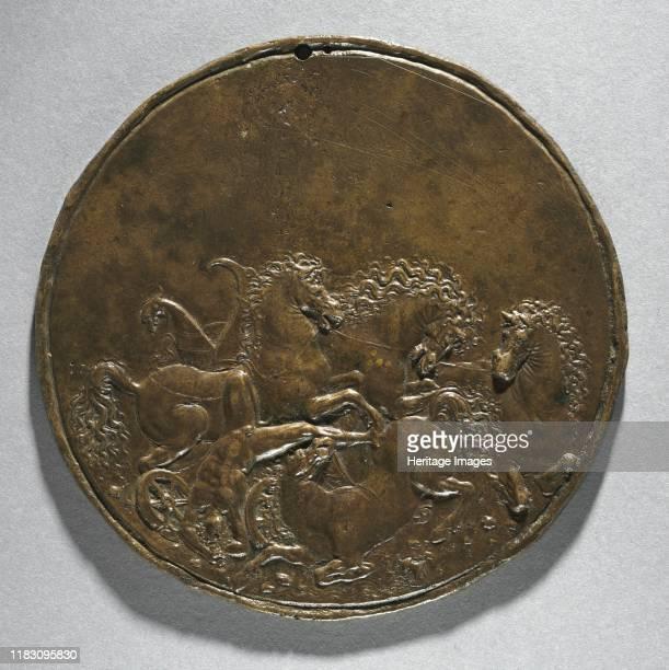 The Death of Hippolytus or Fall of Phaeton, 16th century. Creator Giorgio Ghisi .
