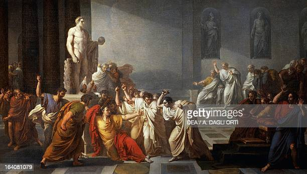 The death of Julius Caesar 18051806 by Vincenzo Camuccini oil on canvas 400x707 cm Rome Galleria Nazionale D'Arte Moderna