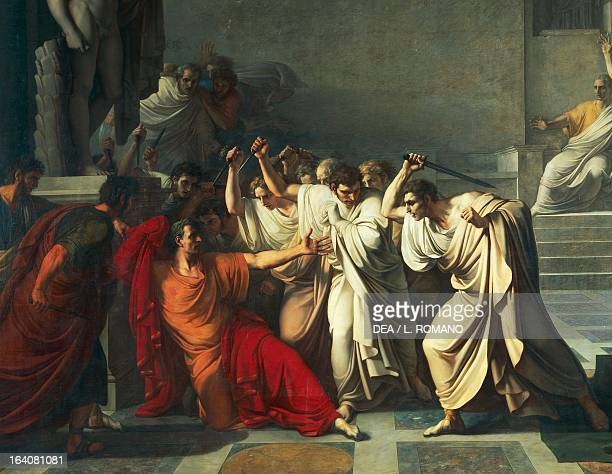 The death of Julius Caesar 18051806 by Vincenzo Camuccini oil on canvas 400x707 cm Detail Naples Museo Nazionale Di Capodimonte