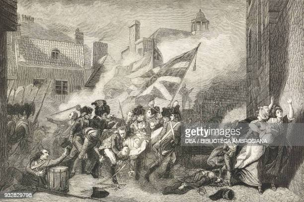 The death of Major Pierson Centenary of the Battle of Jersey from the painting by John Singleton Copley illustration from the magazine The Graphic...