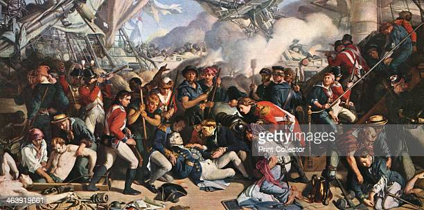 'The Death of Nelson' The death of Admiral Horatio Nelson at the Battle of Trafalgar From the collection of the National Museums Liverpool Scene on...