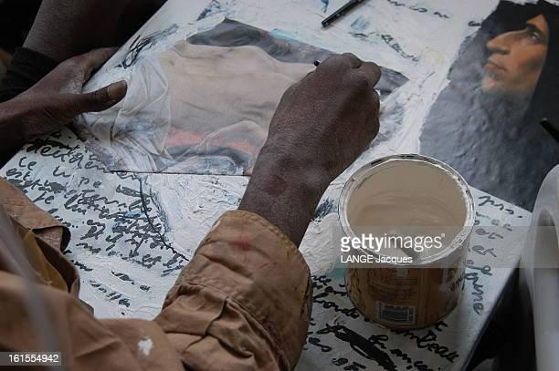 The Death Of Painter Joseph Le peintre Joseph Sdf depuis plusieurs années vient de mourir des suites d'un cancer généralisé gros plan sur les mains...