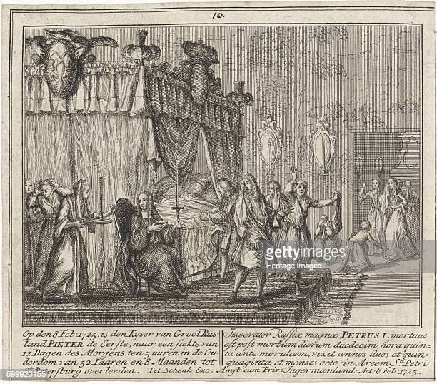 The Death of Peter the Great on 8 February 1725 1727 Found in the collection of Rijksmuseum Amsterdam Artist Schenk Leonard
