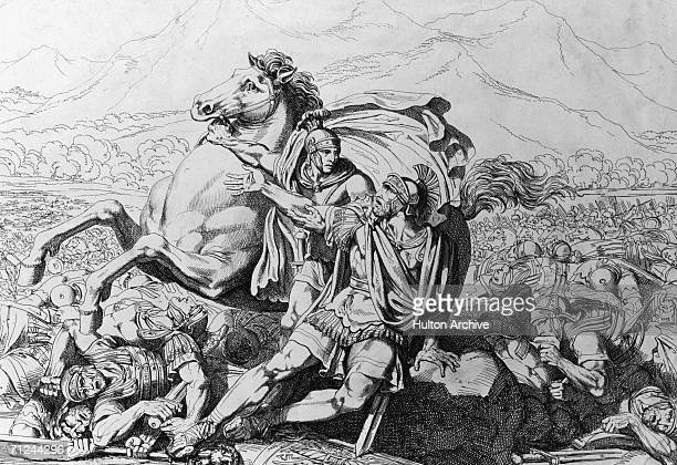 The death of Roman general Lucius Aemilius Paullus at the Battle of Cannae during the Second Punic War against Hannibal and the Carthaginians 2nd...