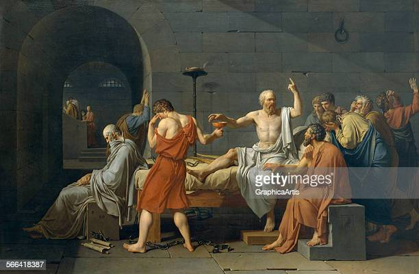 The Death of Socrates by JacquesLouis David oil on canvas 1787 From the Metropolitan Museum of Art New York