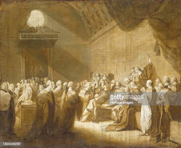 The Death of the Earl of Chatham, 1779. Artist John Singleton Copley.