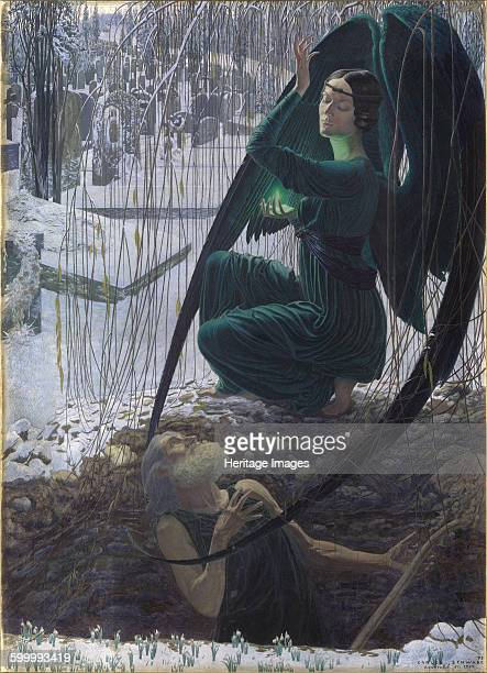 The Death of the Grave Digger , 1895-1900. Found in the collection of Musée du Louvre, Paris. Artist : Schwabe, Carlos .