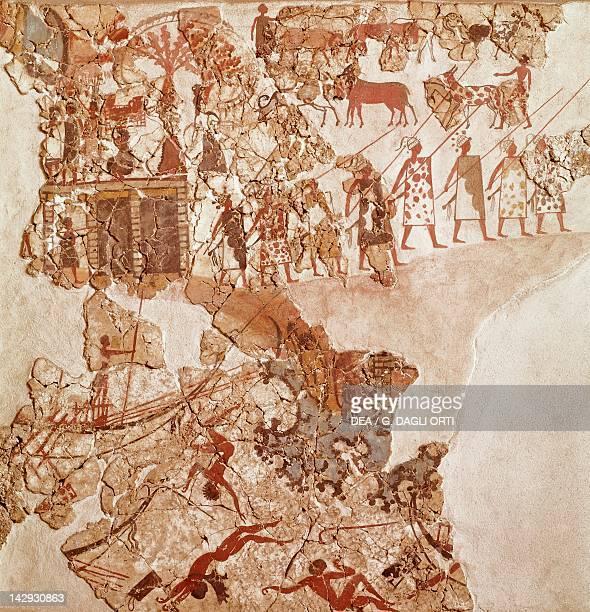 The death of the Libyans Akrotiri fresco Thera Minoan Civilization 16th Century BC Athens Ethnikó Arheologikó Moussío