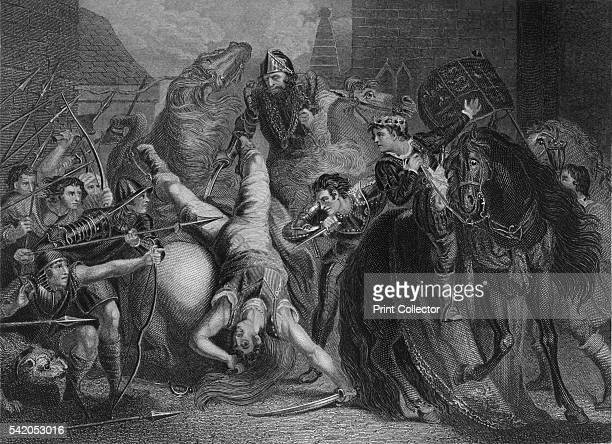 The Death of Wat Tyler' 1859 Walter Wat Tyler Leader of the 1381 Peasants' Revolt in England marched with a group of rebels from Canterbury to London...